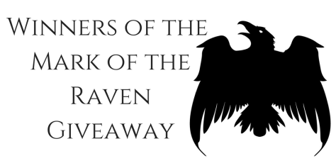Winners of the Mark of the RavenGiveaway
